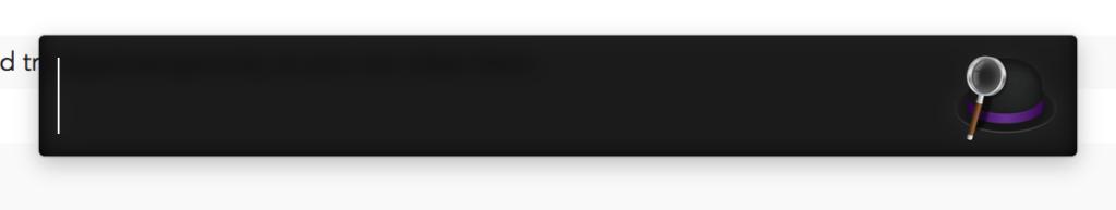 ショートカットキーでこんな入力欄を呼び出して、検索したり命令したりできるのがAlfred